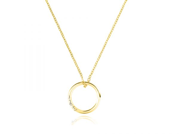 Personalized Russian Single Ring Necklace Gold