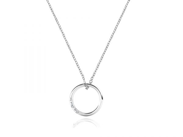 Personalized Russian Single Ring Necklace Platinum