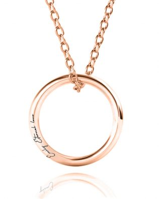 Personalized Single Russian Ring Necklace
