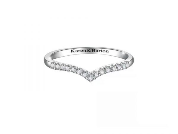Wishbone Name Diamond Promise Ring