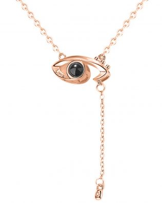'I Love You' in Your Eye Necklace
