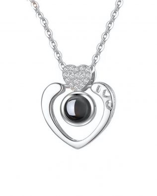 """I Love You""100 Language Heart Shape Necklace"