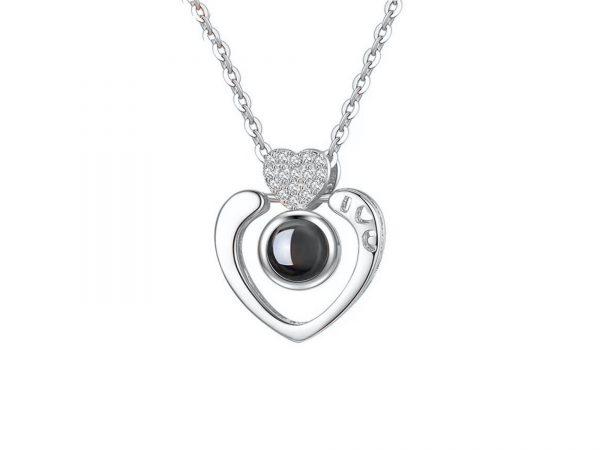 i love you heart shape platinum