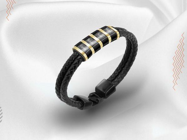 men personalised bracelet stainless steel