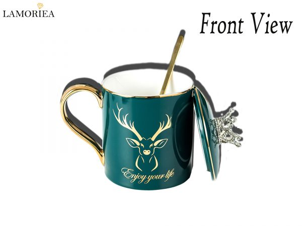 Front View of Mugs