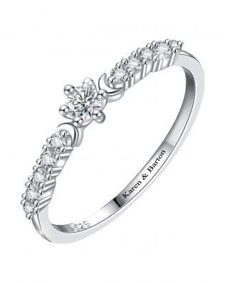 Moon Star Promise Ring
