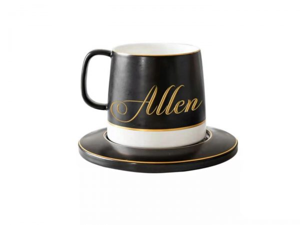 Personalized Classic Black & White Mug 1
