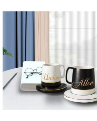 Personalized Black & White Mug Set