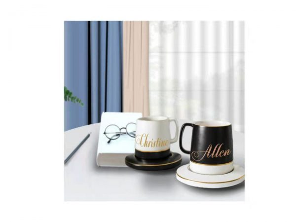 Personalized Classic Black & White Mug 3