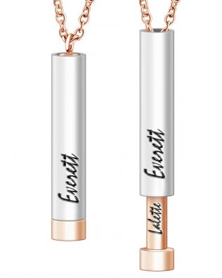 Personalized Cylinder Name Necklace