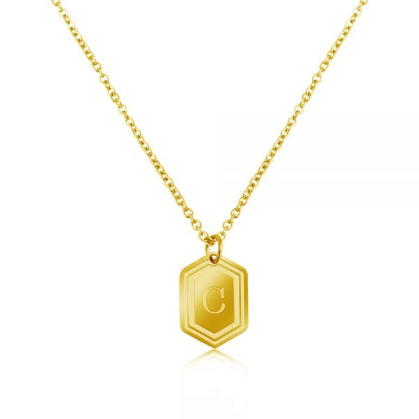 Personalized Gold Medal Necklace 2