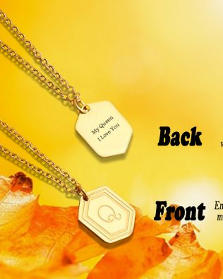 Personalized Gold Medal Necklace