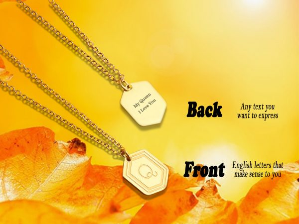 Personalized Gold Medal Necklace BG