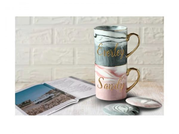 Personalized Marble Mug Set 1