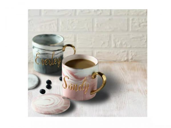Personalized Marble Mug Set 2