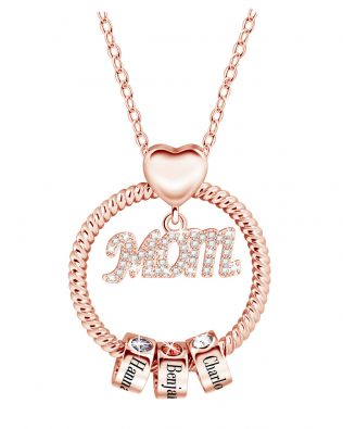 Personalized Super Mom Name Necklace