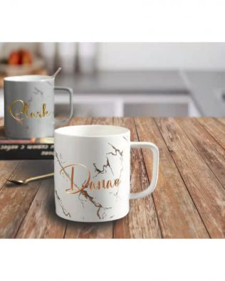 Personalized Golden Marble Mug