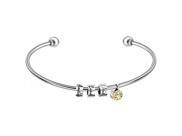 personalized skinny sparkle bracelet platinum
