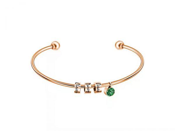 personalized skinny sparkle bracelet rose gold