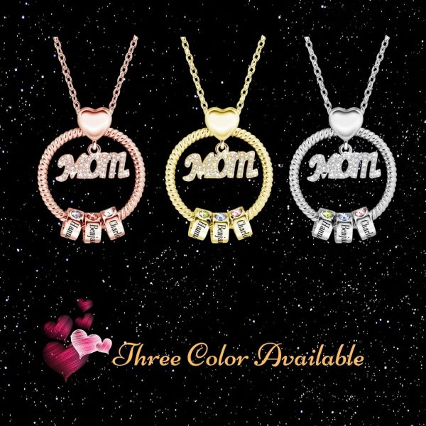 personalized super mom name necklace 2