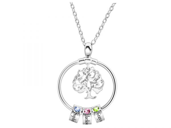personalized sweet home necklace platinum