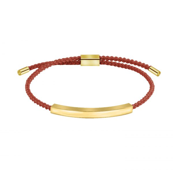 personalized rope bracelet red