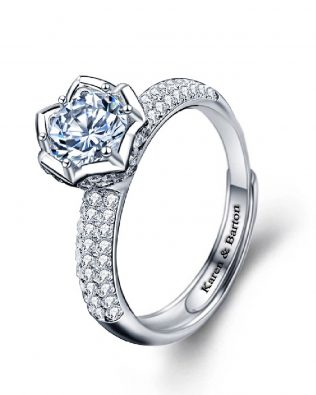Jazz Blue Rose Ring