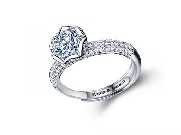 Jazz Blue Rose Ring