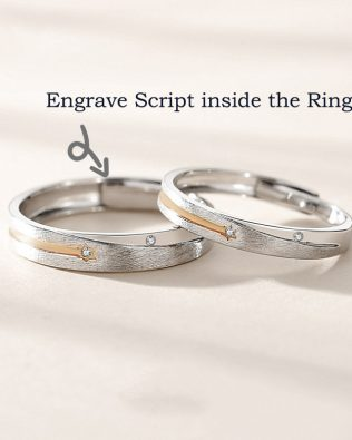 Personalized Stars Couple Rings
