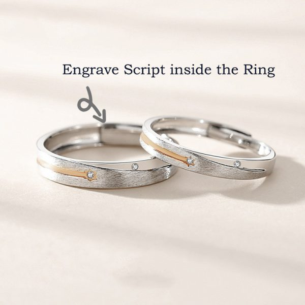 personalized couple rings