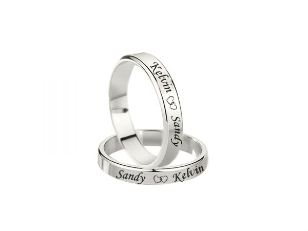 personalized couple rings sterling silver