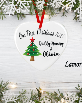 Personalized New Baby Bauble